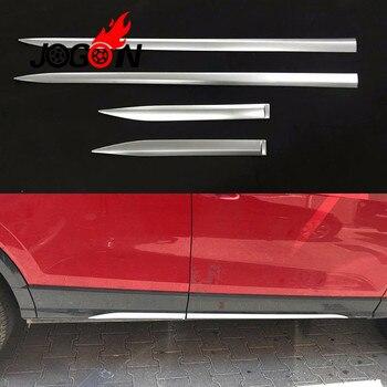 4 pièces/ensemble voiture porte côté corps rayure moulage garniture décoration ABS Chrome pour Audi Q2 2018 2019