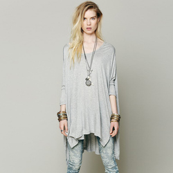 New fashion women batwing bat sleeve loose font b oversize b font long t shirt over.jpg 250x250