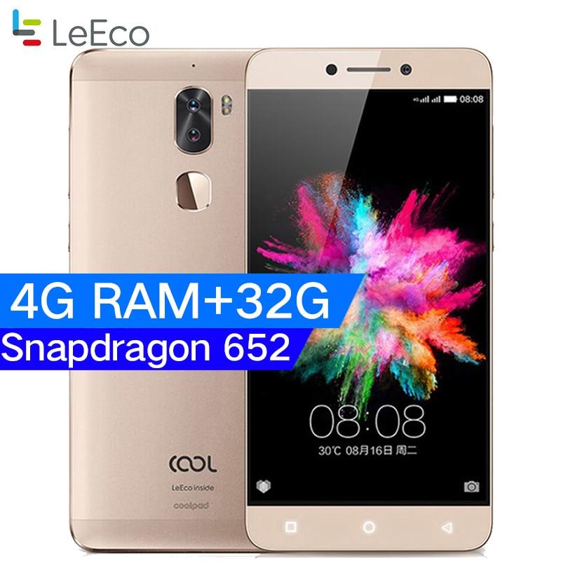 Original Letv Cool 1 Dual Leeco Coolpad Cool1 Snapdragon 652 Mobile Phone 3GB RAM 32GB 5.5 FHD 13MP Dual Cameras Fingerprint ID