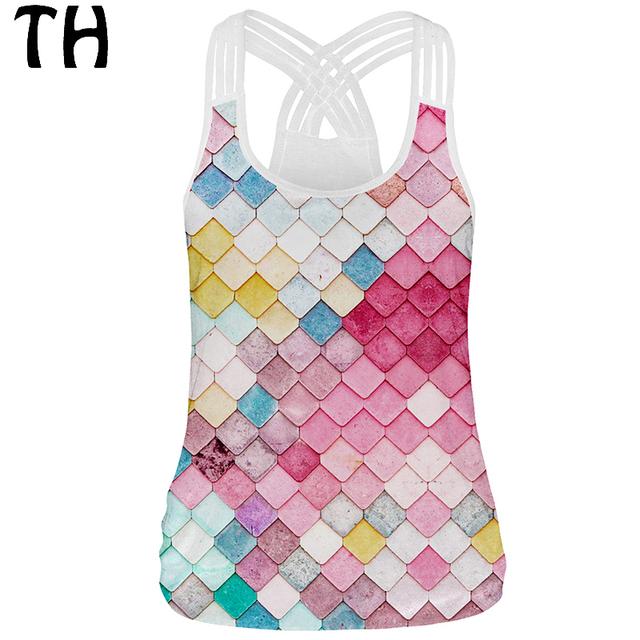 3D Impressão Harajuku Topo Colheita Bralette Tanques Mulheres Camis Elástico Cortadas Feminino #161928