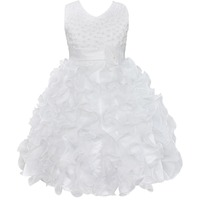 Baby Girl Dress Summer Floral Baby Girls Dress Vestidos White For Wedding Party Dress Baby Clothes