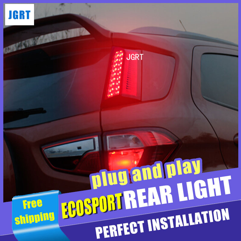 Car Styling Accessories for Ford Ecopsort Taillight assembly 2014-2015 LED Tail Light LED Rear Lamp DRL+Brake+Park+Signal 2pcs. car styling tail lights for ford ecopsort 2014 2015 led tail lamp rear trunk lamp cover drl signal brake reverse