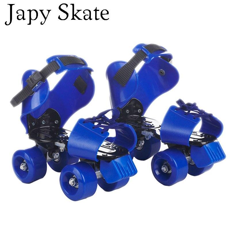Prix pour Jus japy Skate 19-23.5 cm Réglable Enfant Double Patins à roulettes EUR Taille 30-40 Deux Ligne Patines Pour enfants Patins De Patinage Chaussures