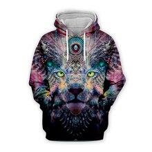 Unisex classic Galaxy lion National indian 3d hoodies men women print sweatshirts autumn long sleeve zipper hooded hoody coat