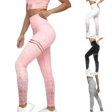 HEFLASHOR Solid Push Up Dot Printed Leggings High  Workout Sweatpants