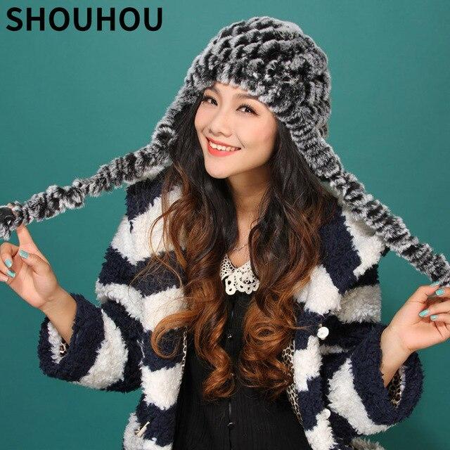 cadeau de noel 2018 mode SHOUHOU 2018 Femmes Réel Chapeau De Fourrure De Mode Filles Cadeau  cadeau de noel 2018 mode