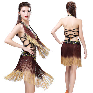 Image 4 - 2019 New Style Sexy Dress for Latin Ballroom Tassel Latin Competition Dress Salsa Performance Rumba Samba Tango Dance Dress