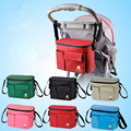 Mummy Stroller Bag Baby Care Organizer Diaper Storage Mother Nappy Bag New Diaper Milk Bottle Waterproof Insulation Bag B536