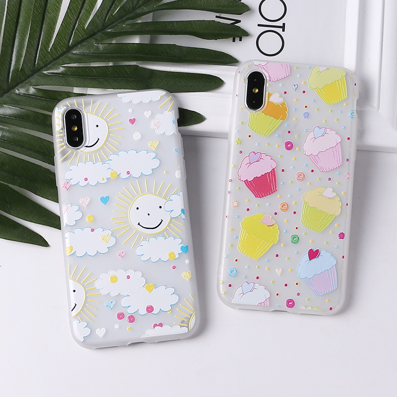 TOMOCOMO Cute Puppy Pug Grils Red lips Heart Soft Matte Phone Case Coque Funda For iPhone7Plus 6 6S 6Plus 8 8plus X