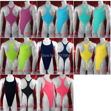 Mens Thong Bodysuit Stretchy High Cut Racer Back Jersey Spandex G428B