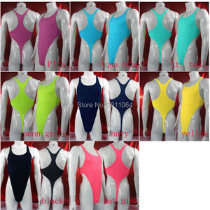 Image 1 - Mens Thong Bodysuit Stretchy High Cut Racer Back Jersey Spandex G428B
