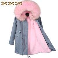 Women Winter Jackets Plus big Raccoon Fur Collar Hooded good quality faux fur Lining Jacket Coat Top Fashion Warm Parkas Pellicc