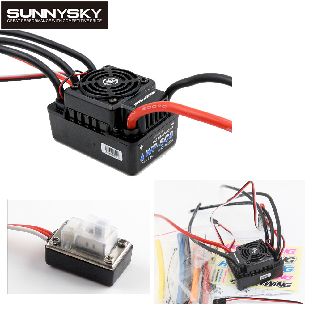 1pcs 100 Original Hobbywing EZRUN WP SC8 Waterproof 120A Brushless ESC RC Car EZRUN WP SC8