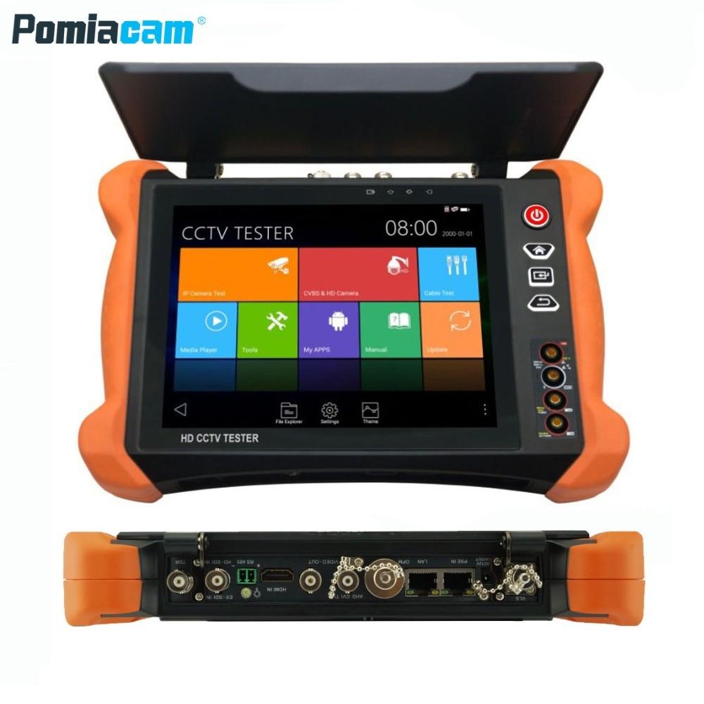 X9ADHS 8inch Touch Screen CCTV Analogy Video HD1080P IP Camera Wifi Tester POE UTP 5MP AHD 8MP CVI 8MP TVI camera tester