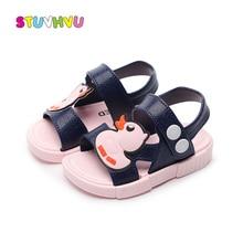 Cute Cartoon Duck Kids Sandals Toddler Boys and Girls Jelly Shoes Non-slip Soft Bottom Children Beach Summer