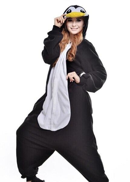 Симпатичный Пингвин Kigurumi Пижама для Животных Подходит Косплей Костюм  Хэллоуина Для Взрослых Одежды Мультфильм Комбинезоны Мужчина 04bbb21aa3e79