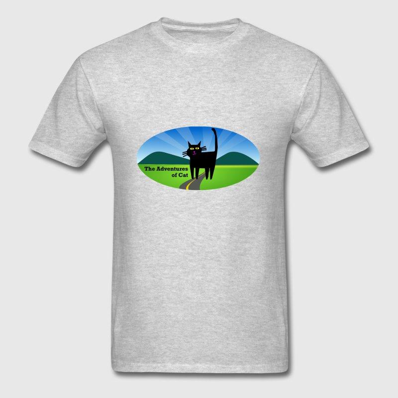 Camiseta del Humor para los hombres equipada Cat cruces un camino ...