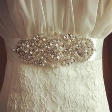 1Pc Silver Clear Crystal Bling Hot Fix Beaded Rhinestone Applique Glass Trim Wedding DIY Bridal Belt Headband ML07