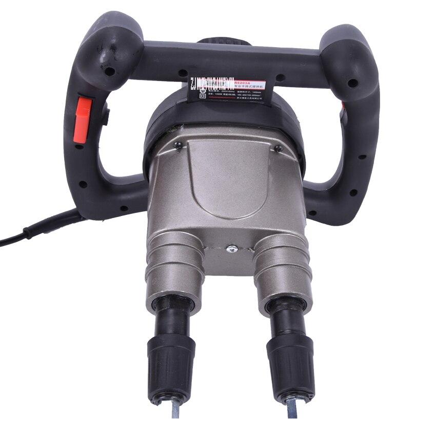Купить с кэшбэком Liquid Mixer 1400W Agitator Variable Speed Electric Mixer 2 Agitator Arm (Can mix feed, coating, paint, cement etc)
