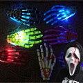 Nuevo pequeño LED ghost mano horquilla luminosa de Halloween accesorios De Halloween Navidad Bola Flash Bromas juguetes