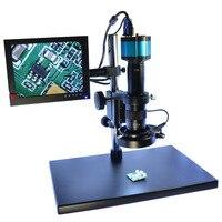 Industry Digital Microscope Camera Kit 2 0MP HD VGA 8 HDMI LCD Monitor Stand Holder