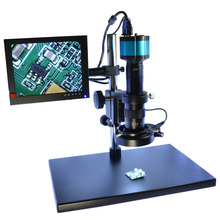 Cheaper Industry Digital Microscope Camera Kit 2.0MP HD VGA 8″ HDMI LCD Monitor Stand Holder Zoom 180X C-Mount Lens144 LED Ring Right