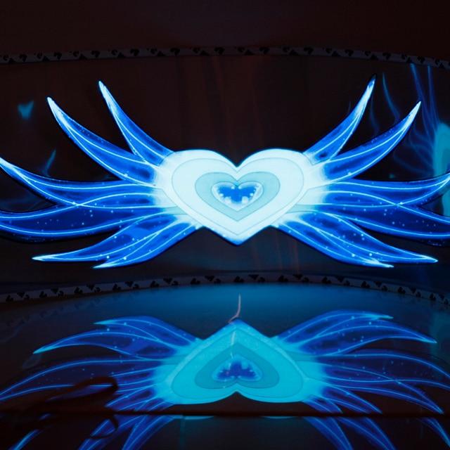 90*25 см EL лист Свет лампы звук Эквалайзер Угол Душа chario Led DecorationCar стиль БОЛЬШОЙ 3D Flash Автомобиля стикер Музыка Ритм