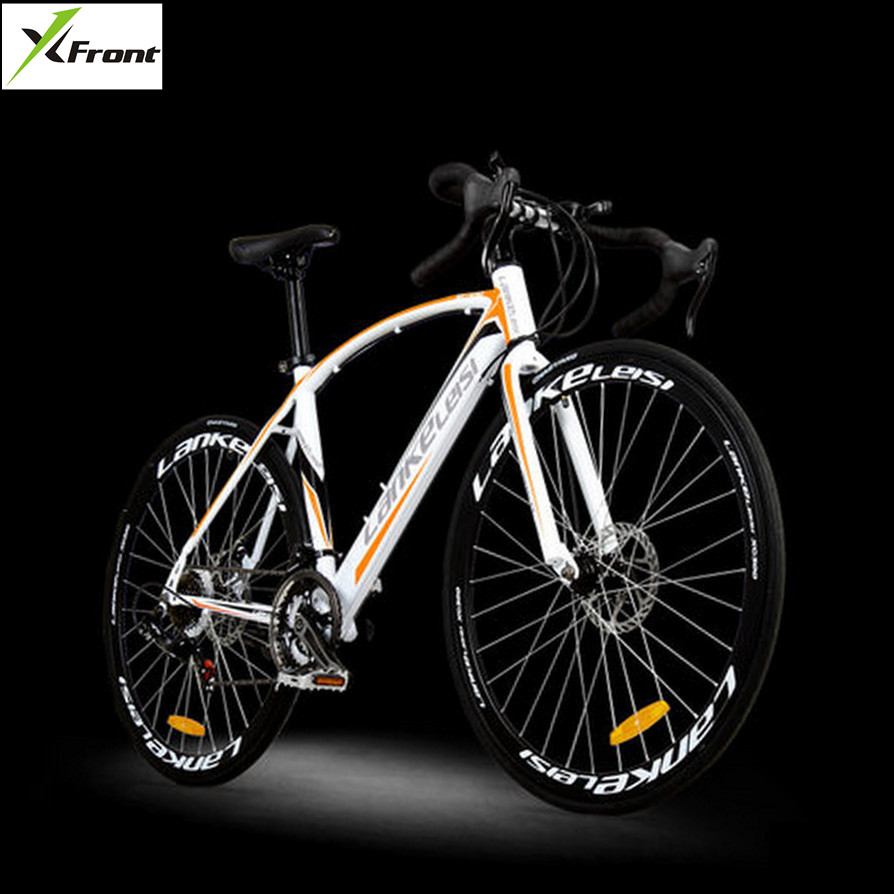 New brand 700CC carbon steel frame 21/27 speed break wind disc brake road bike cycling outdoor sport bicicleta racing bicycle  new brand 14 speed racing bike 700c 50cm bike aluminum alloy frame bend bicycle cycling disc brake road bike drop shipping