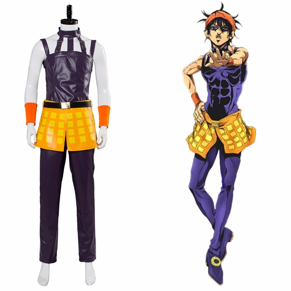 JoJo's Bizarre Adventure: Golden Wind Narancia Ghirga Cosplay Costume Men's Suit Halloween Costume Customizable