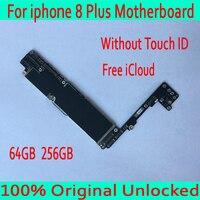 100% оригинал разблокирована для iphone 8 плюс материнская плата, с бесплатной iCloud для iphone 8 P материнская плата без Touch ID