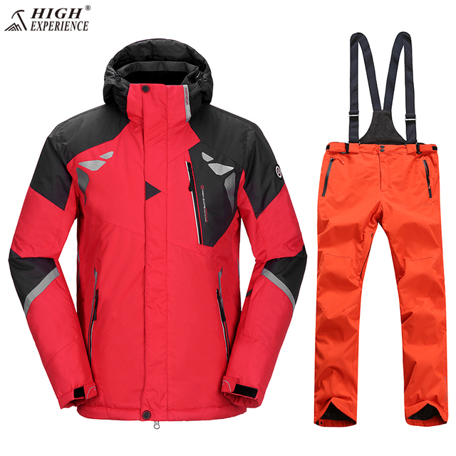 378833c5d47 Russian Winter Ski Jacket Men Plus Size Ski Suit Men Snowboard Pants  Mountain Skiing Outdoor Sport Coat Snow Clothing