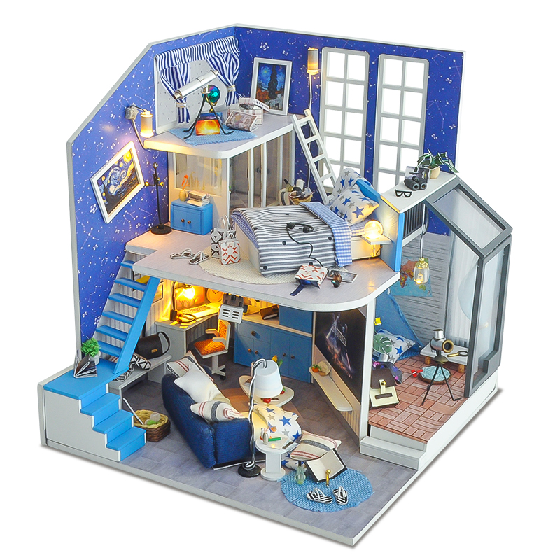 Toys & Hobbies Doll House Furniture Diy Miniature Dust Cover 3d Wooden Miniaturas Dollhouse Toys Doll House Miniatures Box Theater Casa Dolls & Stuffed Toys