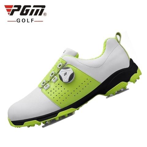 Masculino à Prova Sapatos de Golfe Absorção de Choque Sapatos de Treinamento Dwaterproof Água Esportes Prego Antiderrapante Rotativa Cadarços Tênis Eu39-44 D0473 Pgm