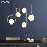 Nordic Home Decor Glass Ball Pendant Lamp Modern Minimalist Pendant Lights for Living Room Decoration Bedroom Dining Room Lamps