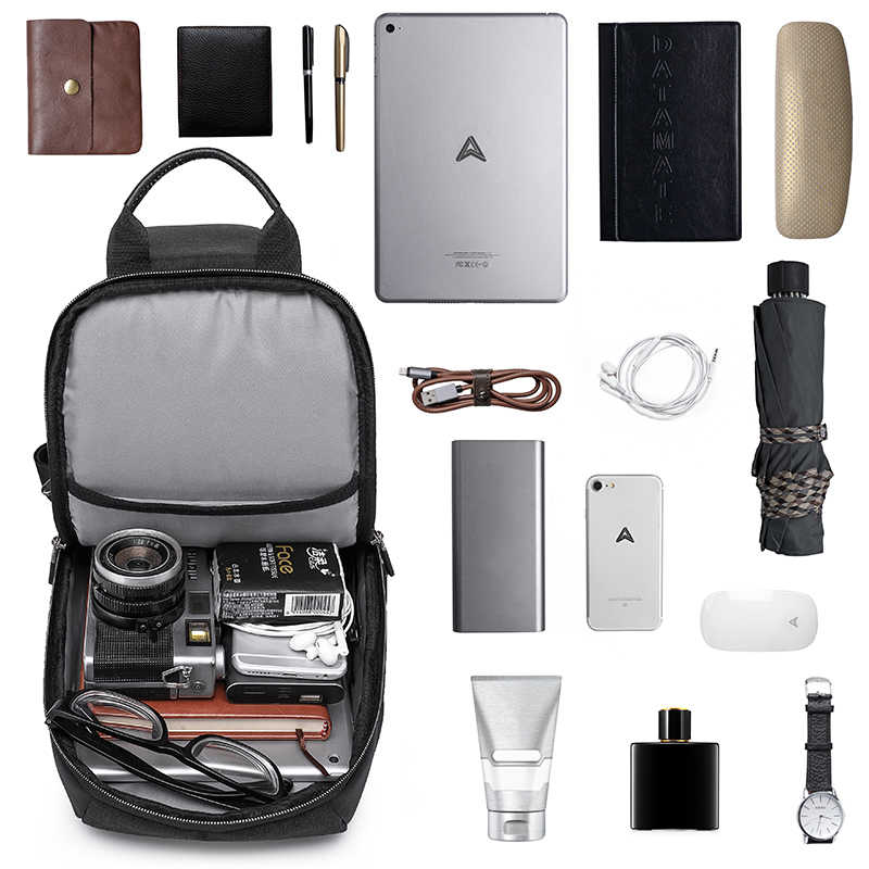 KAKA Luxury Brand Chest Bag USB Messenger Crossbody Bags for Men   Shoulder Sling Bag Waterproof Short Trip mobile phone bag