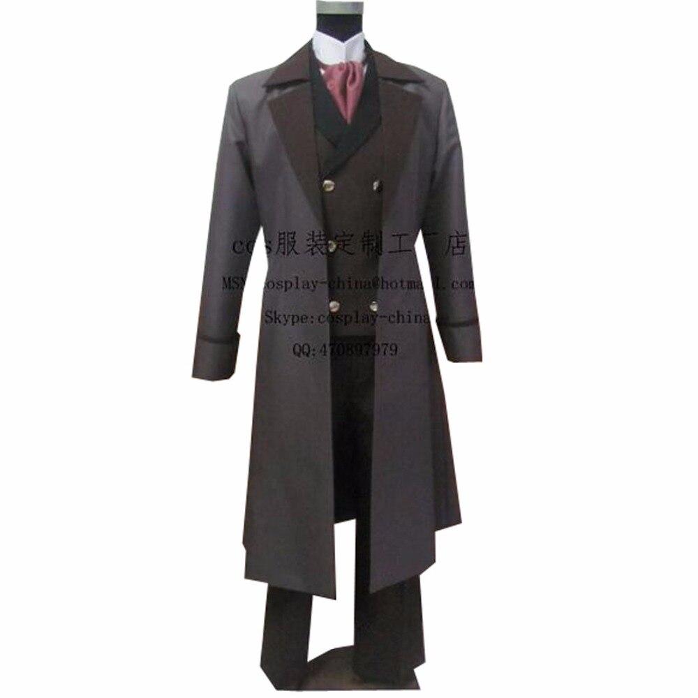 2018 TOP Quality Kuroshitsuji Black Butler Sebastian Michaelis Cosplay Costume Adult Size