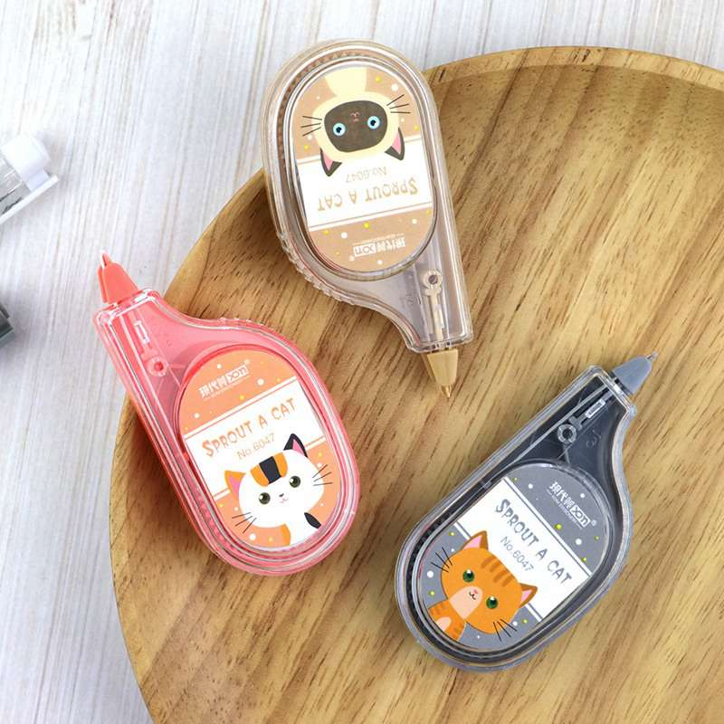 1pc Cute Cartoon Creative Cat Correction Tape Kawaii White Out Correctie Tape Korean Stationery For School Supplies Kids Student