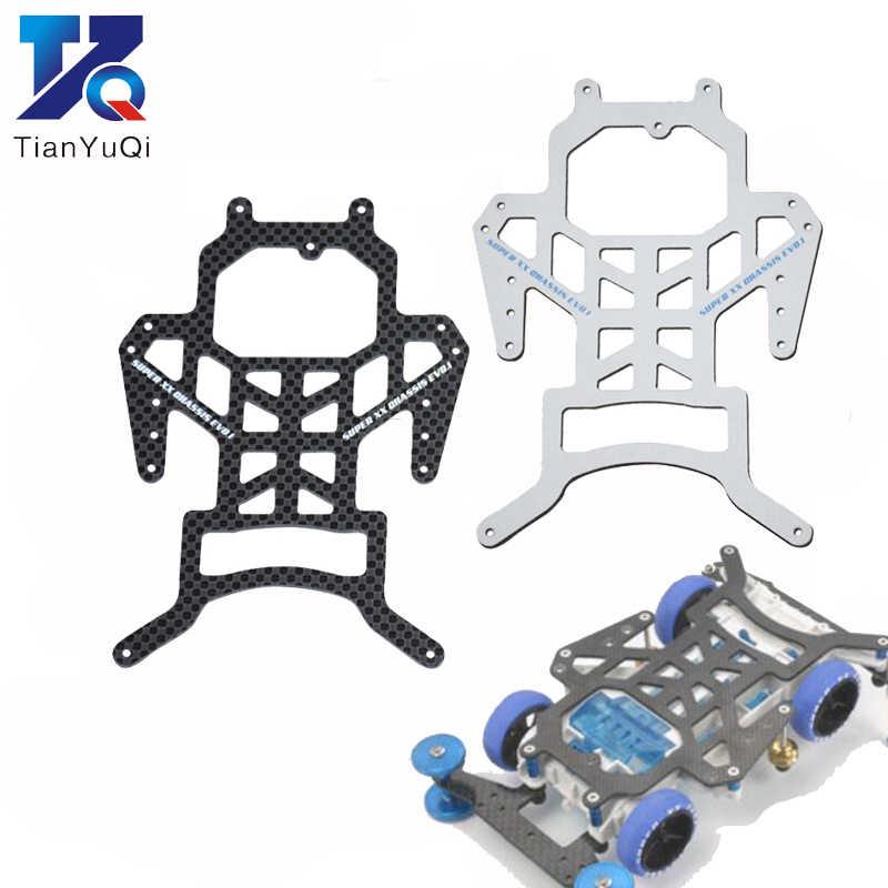 Tamiya Mini 4WD piezas de repuesto de coche teledirigido completa chasis de fibra de carbono/líder cabeza/Pteris cola frente/placa trasera para SX SXX EVO
