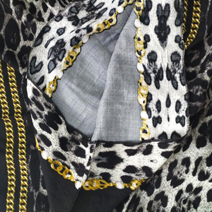 Image 5 - 2019 Fashion Dashiki African Dresses For Women Leopard Print Cotton Dashiki Casual Dresses