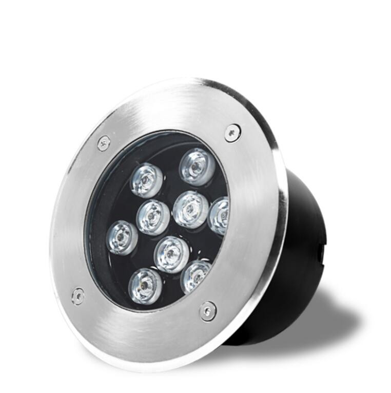 5PCS/SET LED Underground Light 9W Buried Recessed Floor Ground Yard Path Landscape Lamp Outdoor Lighting poll geyser spotlight