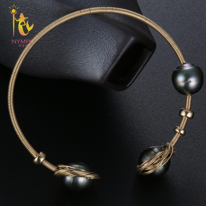 NYMPH Pearl Jewelry Baroque Pearl Bracelets Jewelry Natural Stone Charm bracelets For Women Party Gift [S314] [nymph] pearl bracelets natural pearl jewelry baroque natural fresh water pearl bracelet for women s311
