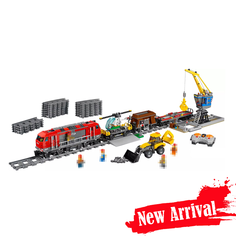 LEPIN 02009 City Heavy-Haul Train POWER FUNCTIONS 984PCS Building Blocks Bricks Toys for boys Compatible with legoINGly 60052 8 in 1 military ship building blocks toys for boys