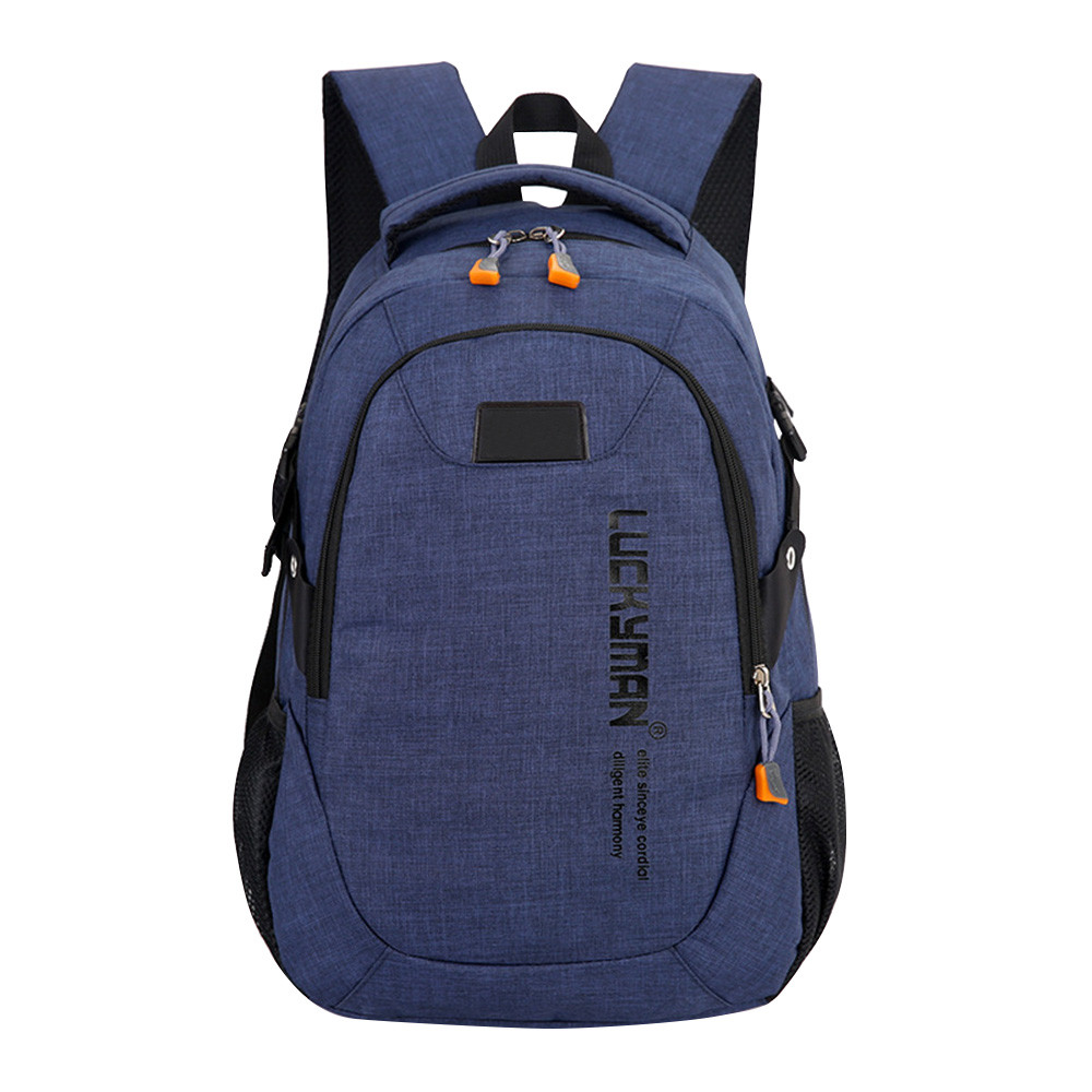 Fashion Men Male Canvas Backpack College Student School Backpack Bags Teenagers Vintage Mochila Casual Rucksack Travel Daypa #W