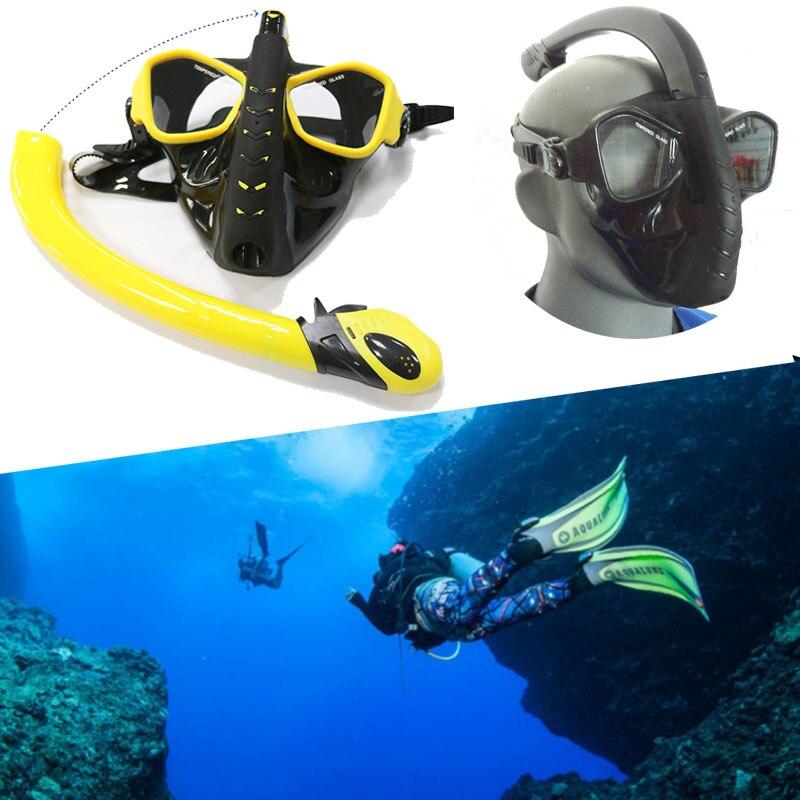 Plein visage Plongée sous-marine masque Anti-brouillard masque plonge plein visage Sous-Marine En Apnée masque go pro Caméra Adult Swim lunettes