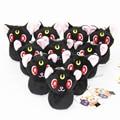 "[PCMOS] 2017 New Anime Sailor Moon Black Cat Luna 4"" Mini Plush Toy Sandbag Charm Keychain  Arcade Prizes 16071504"