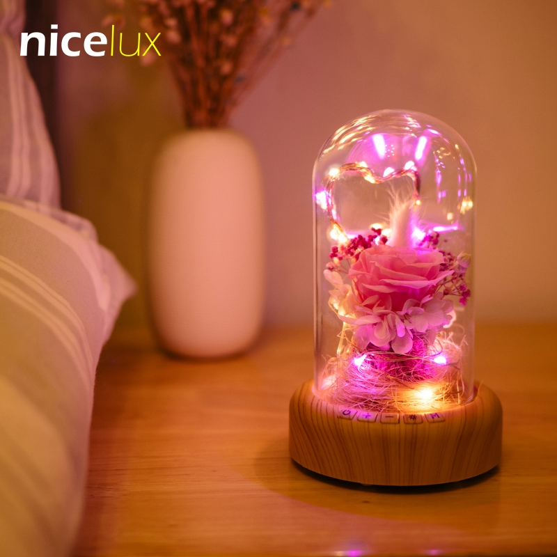 LED Copper Wire Bottle Decorative Night Light String Rechargeable Battery Bluetooth Wireless Speaker Abajur Table Lamp Luminaria дрель wester bm 20 прямая