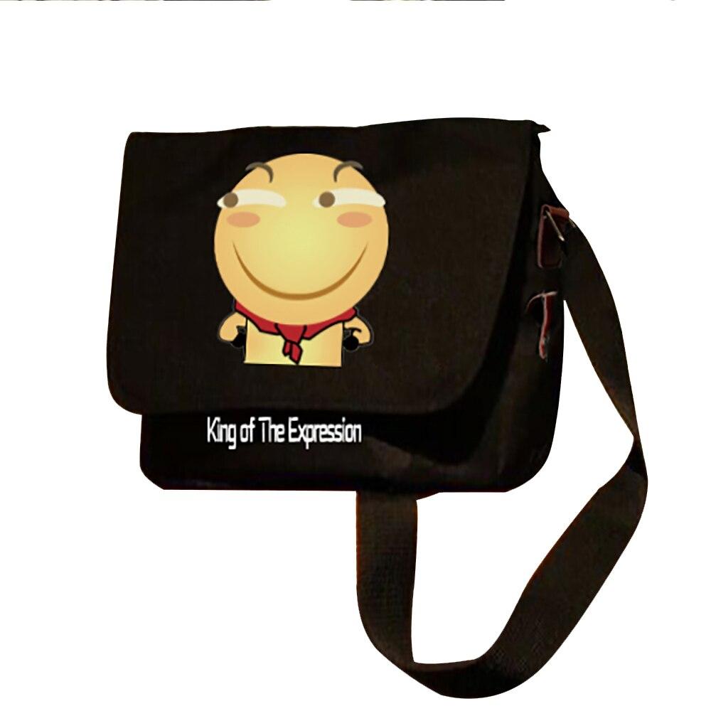 Zshop Funny Face Shoulder Bag Spoof Emoji Expression Animation Satchel Black Mochila Crossbody Oxford Bags