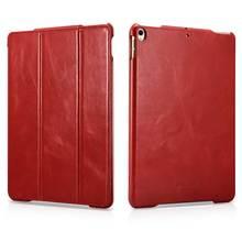 Pour Apple iPad Air3 2019 étui à rabat en cuir véritable mince affaires pliable support tablette PC couverture intelligente pour nouvel iPad Pro 10.5 pouces