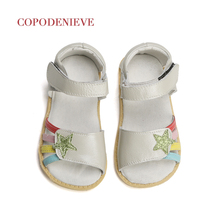 COPODENIEVE Summer Style Children Sandals Girls Princess Beautiful Flower Shoes Kids Flat Sandals Baby Girls Roman Shoes