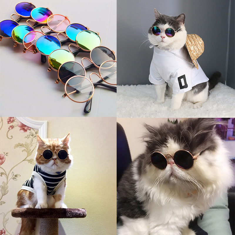 Funny Cat Eye-wear Pet Sunglasses Little Dog Glasses Cat Glasses Photos Props Dog Cat Accessories Pet Supplies For Pet Products